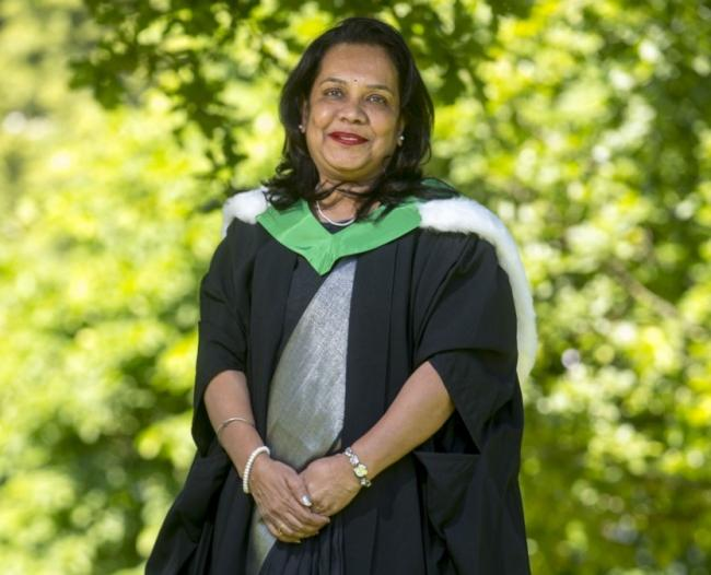 Anupama on her graduation day at the University of Stirling
