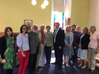 Stephen Kerr MP with Stirling Methodist Church members and friends
