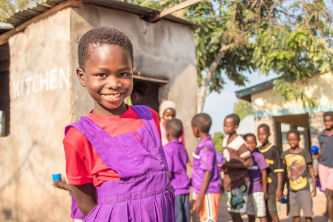 Felicitas from Malawi is one of the many children supported by Mary's Meals