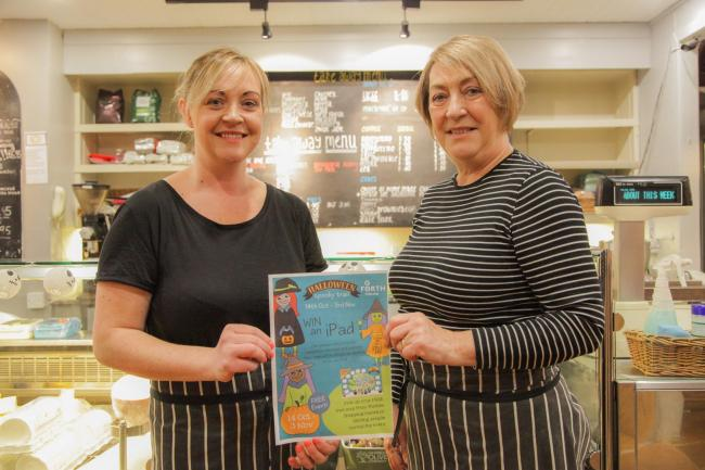 Leanne Wilson and her mum Irene Williams at the Pend Café are taking part in the trail