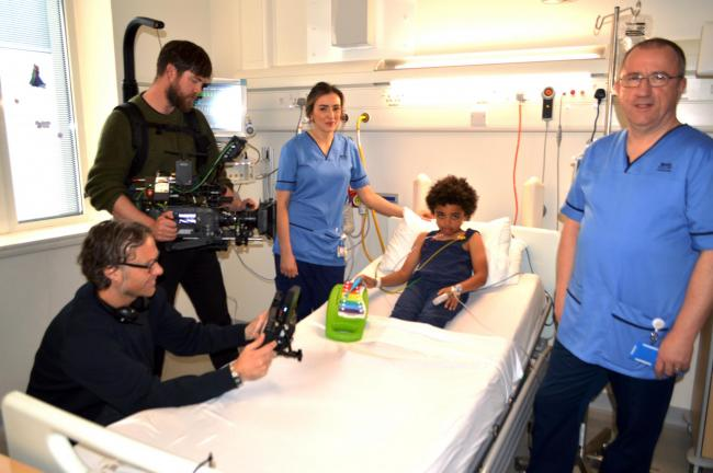 LIGHTS, CAMERA, ACTION: NHS paediatric nurses Annabel Burns and Grant Brown filming