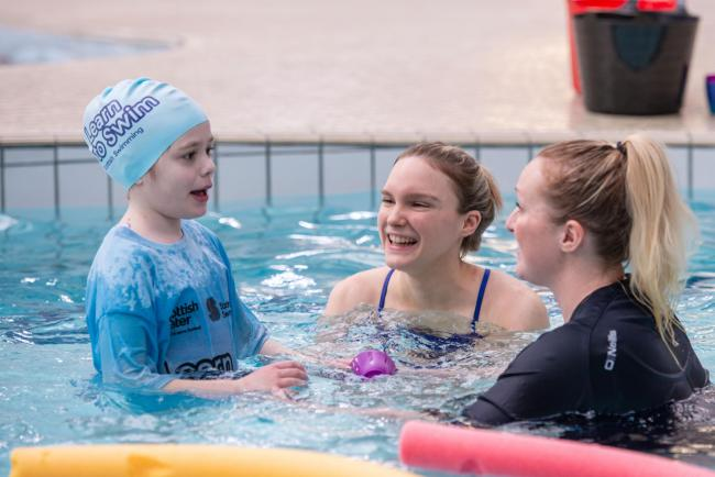 45 per cent of children with disabilities who attend Learn to Swim programme attend mainstream classes