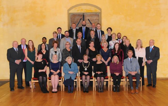 Award winners alongside Provost Christine Simpson, from the most recent Provost Awards