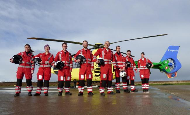 The regular and reservist crew who will fly with Helimed 79