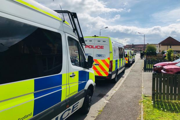 A drugs warrant was executed in Fallin as part of the operation - Picture courtesy of Police Scotland