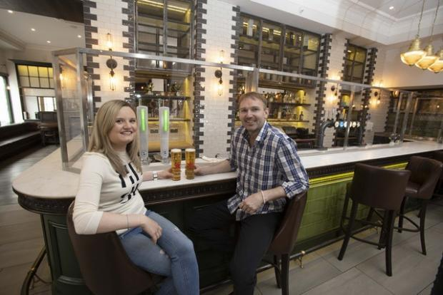 Stirling News: Perspex glass is up at the bar