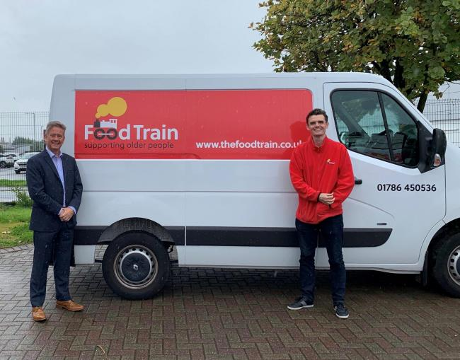 MSP Keith Brown with Stuart Miller, Food Train regional manager for Stirling and Clackmannanshire