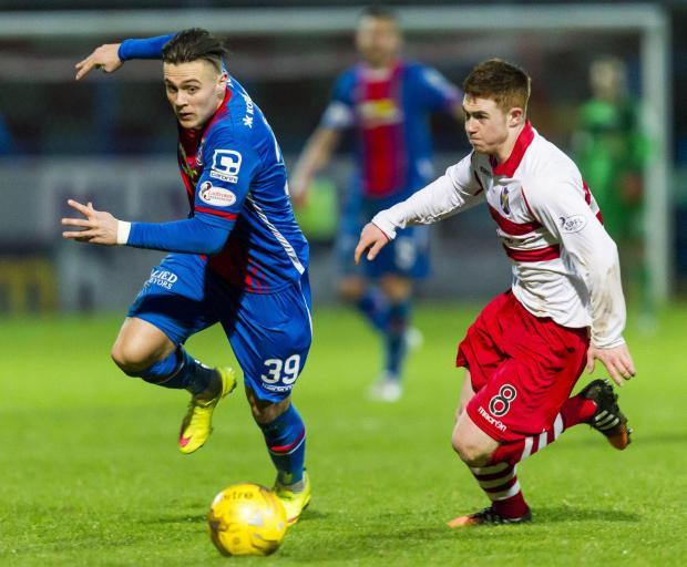 Stirling Albion star Craig Comrie in action against Inverness in the Scottish Cup