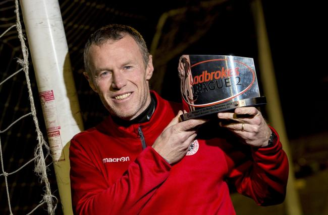14/01/16  STIRLING ALBION  Stirling Albion manager Darren Smith is delighted to have been awarded Ladbrokes League Two manager the month for December  (53111061)