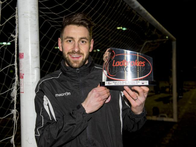 Stirling Albion's hat-trick hero Darren Smith