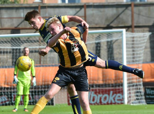 Blair Henderson in action for Berwick Rangers.