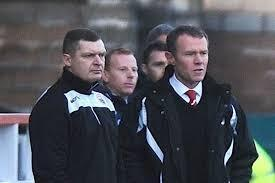 Stirling Albion management team Martyn Corrigan and Stuart McLaren