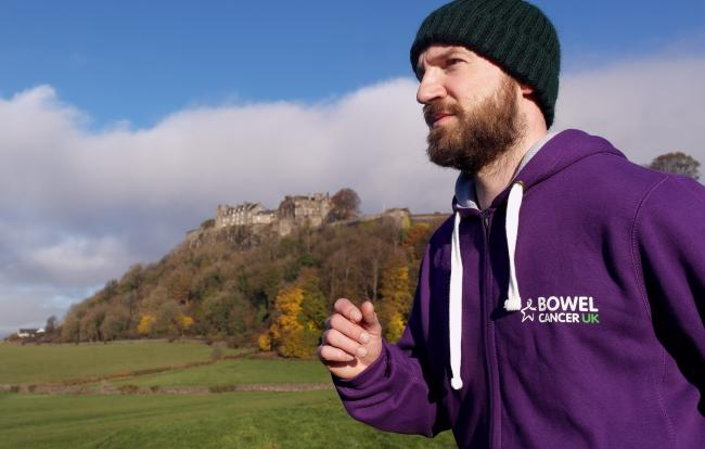 Steven Anderson will be running the Stirling Marathon in honour of his gran who died of bowel cancer