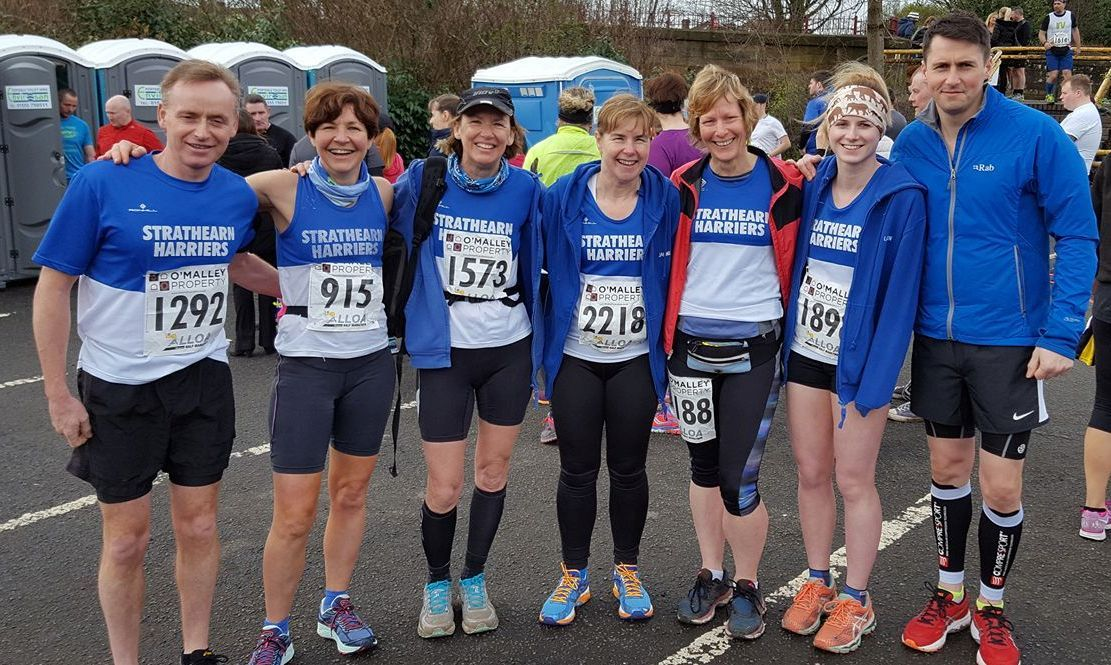 Strathearn Harriers at the Alloa Half Marathon 2017 - Image courtesy of Colin Tipping
