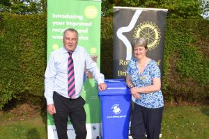 George Sommerville, waste operations manager with Stirling Council, with speaker's host Audrey Cooper