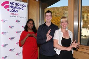 Charity urges Stirling residents to make small changes deaf awareness impact