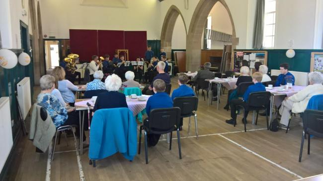 Contact the Elderly afternoon tea party with the 25th Stirling (Dunblane) Boys' Brigade.