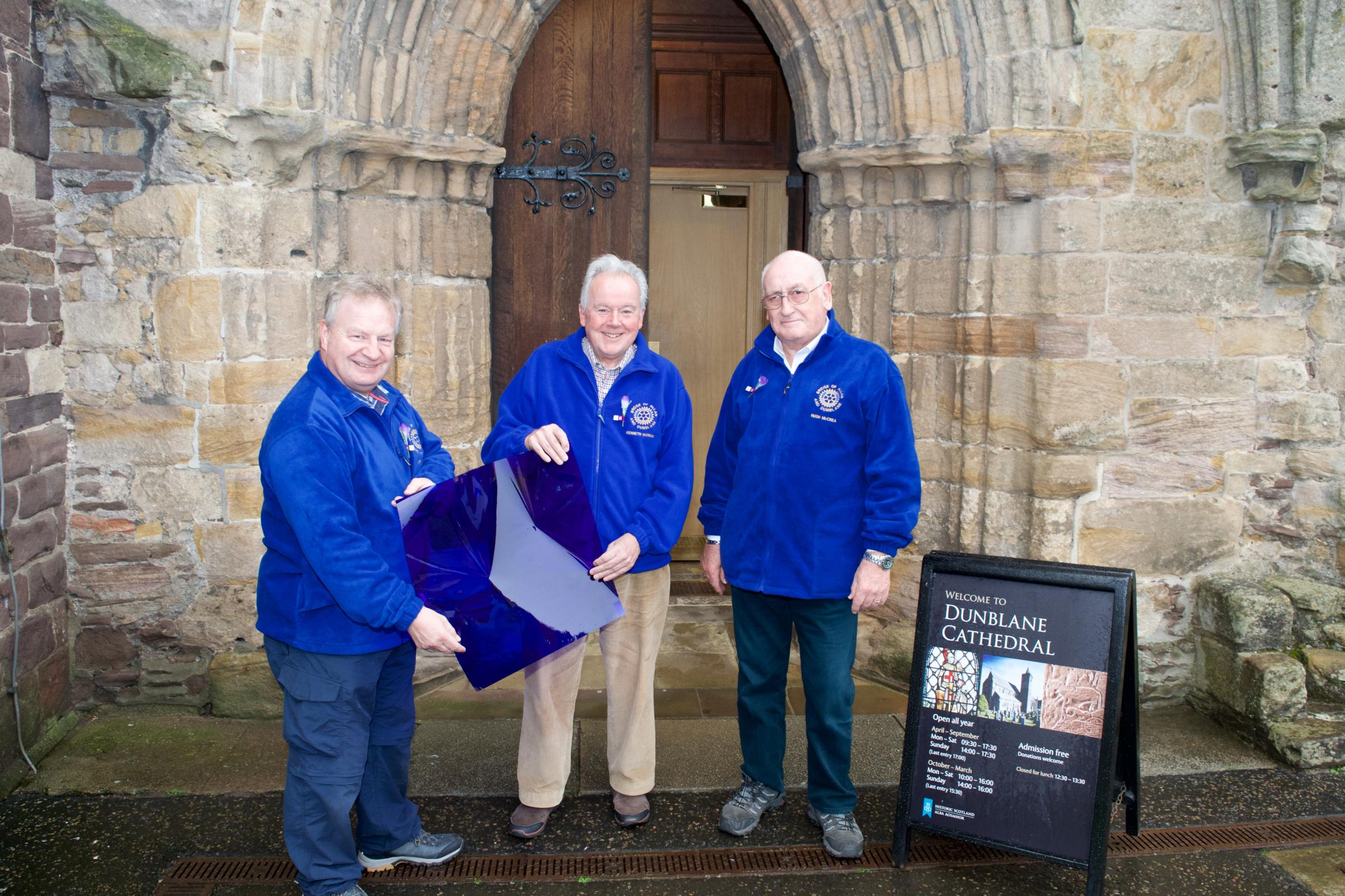 Rotarians at Dunblane Cathedral