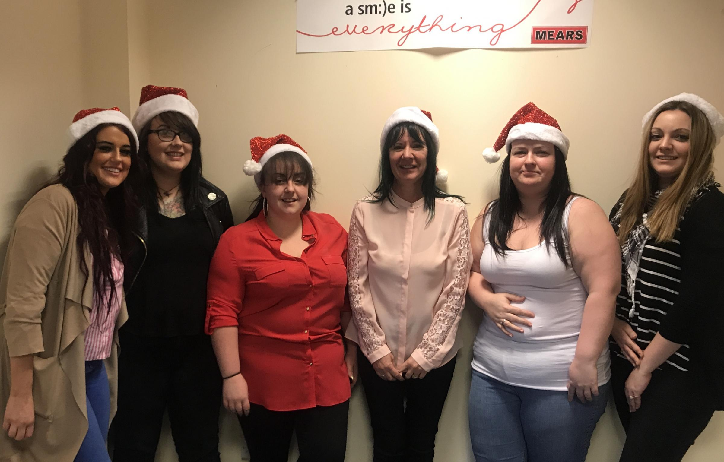 LEFT TO RIGHT: Abbie McGinley, care co-ordinator; Lynn Fulton, senior support worker; Caitlin Leask, assistant service manager; Carole Gillies, service manager; Julie Spence care co-ordinator, and Sammie Tucker, administrator
