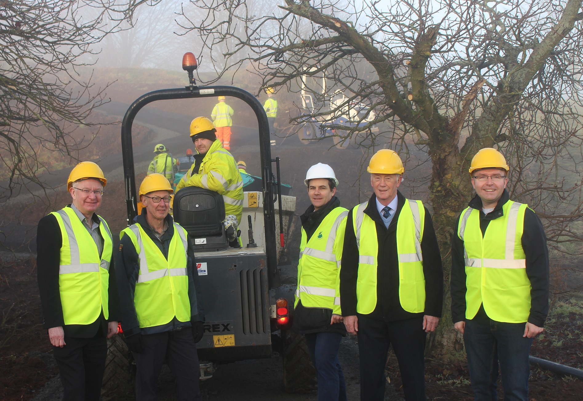 Pictured with members of the land services team, l-r: Cllr Jim Thomson; King's Park Paths group leader, Andrew Hipkin, assistant projects officer Colin MacDonald; Stirling Golf Club representative, George Clelland; Cllr Danny Gibson.