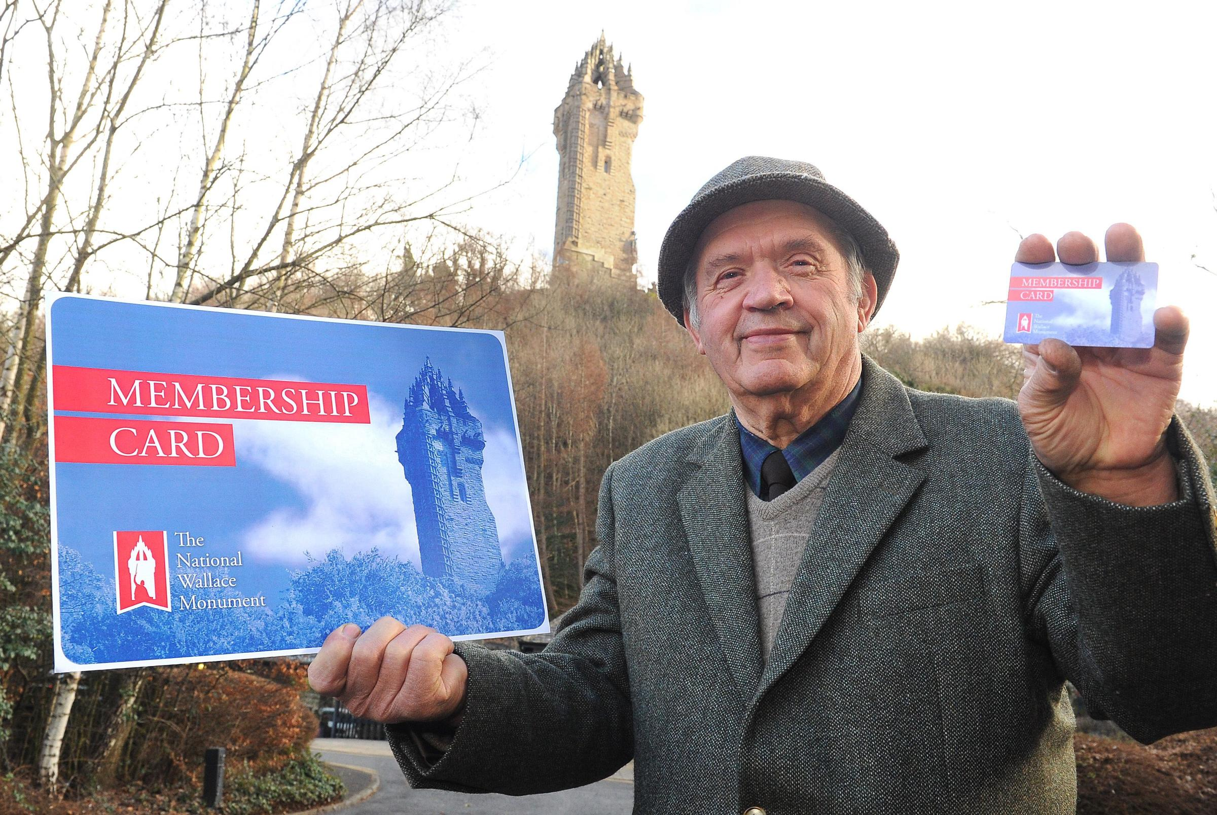 William Wallace signs up for monument membership