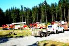 Firefighters tackle wildfire at Devilla Forest