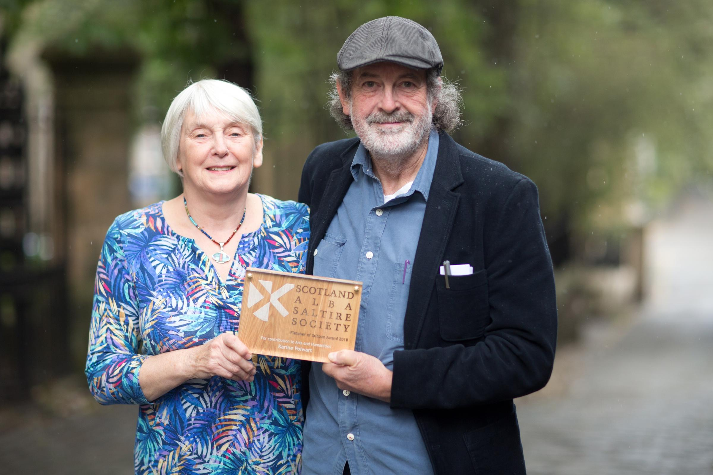 Karine Polwart's parents who accepted the award on her behalf