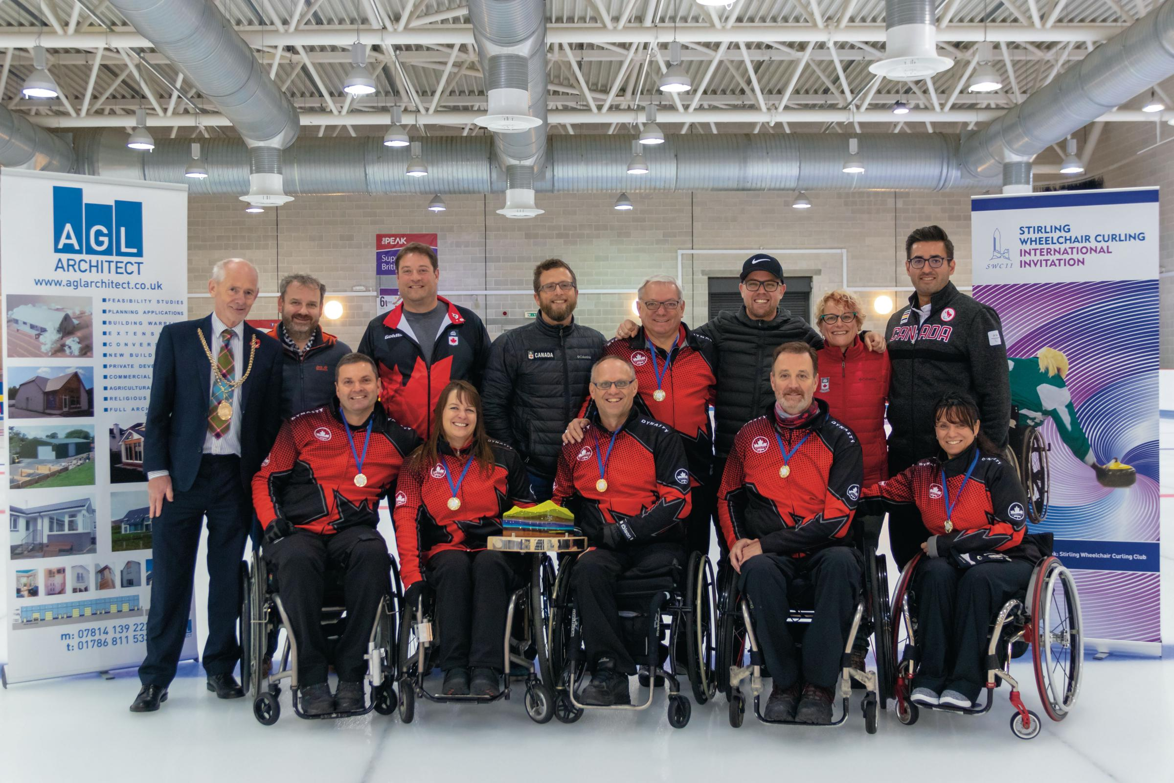 CHAMPIONS: The Canadian team won the Stirling Wheelchair Curling International Invitational 2018