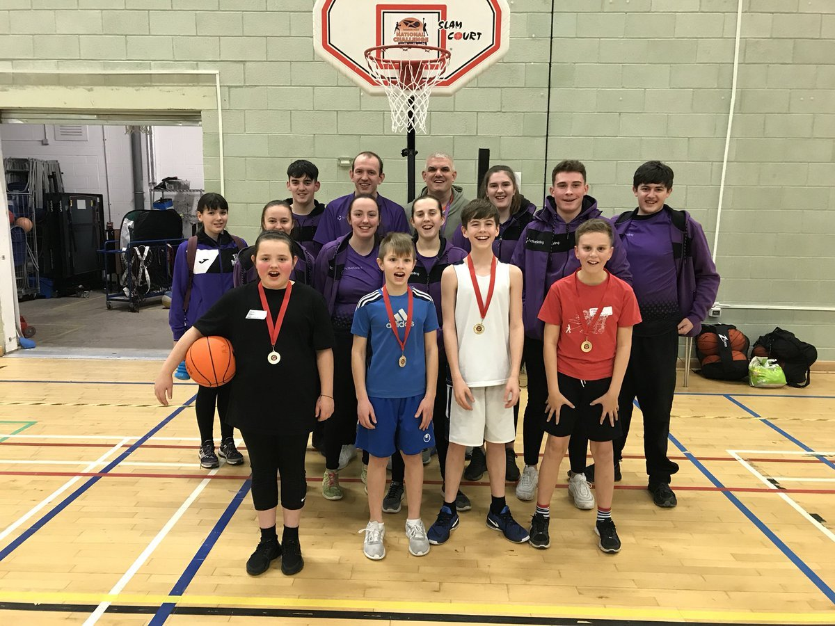 Young people form around Stirling took part in the Active Stirling Basketball Club Cluster Competition