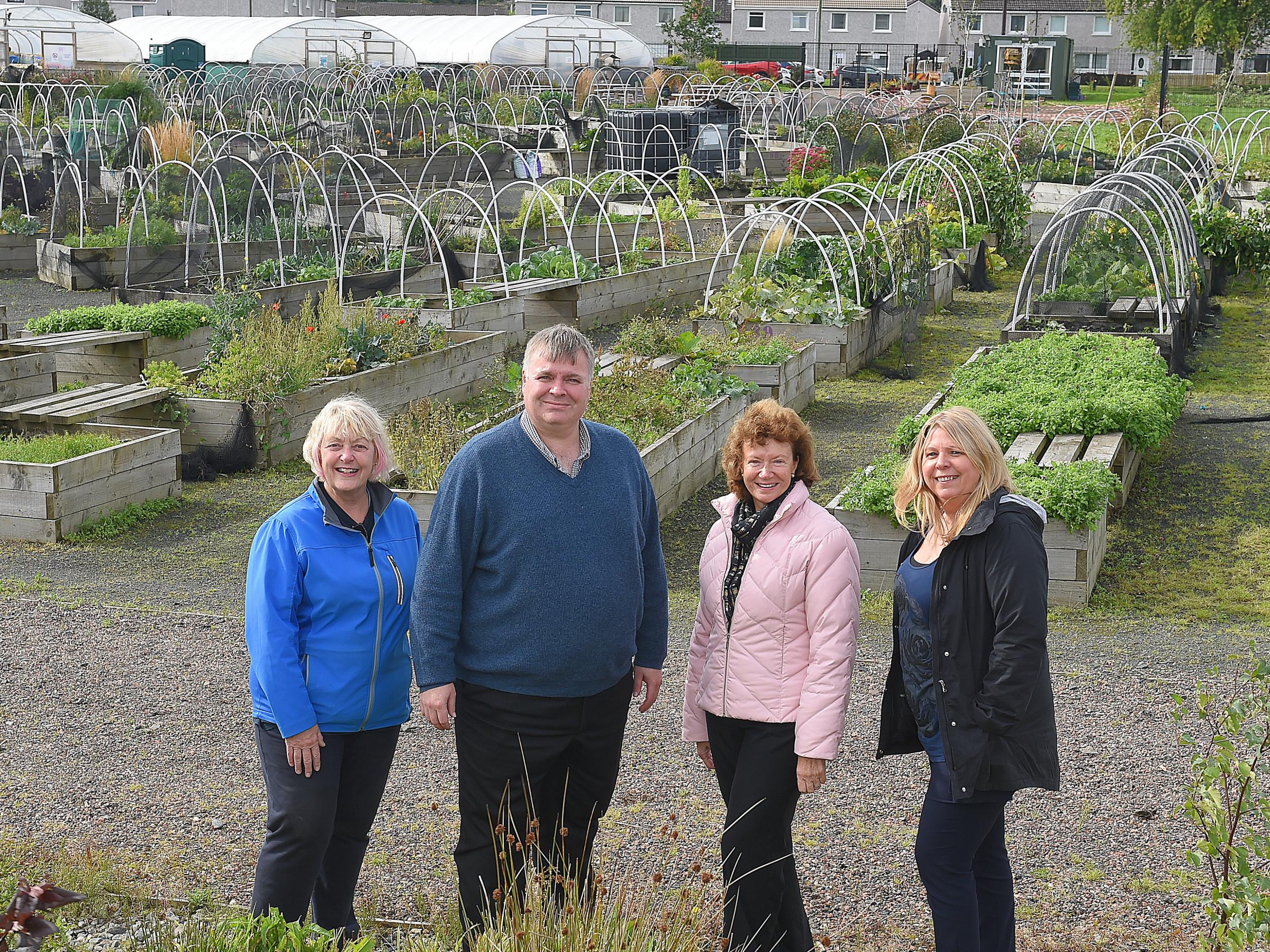 Community success: Braehead Community Garden opened in 2015 following a successful drive by the community council