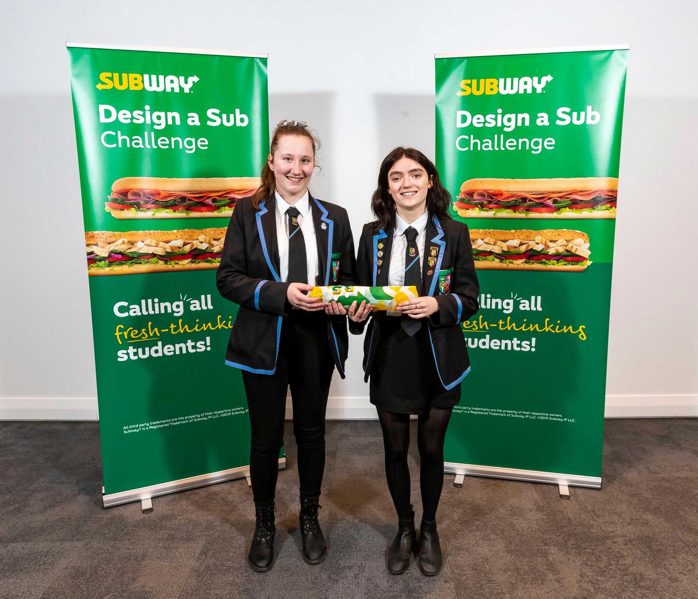 Dunblane High pupils entered with their Flamin' Nacho Chicken creation