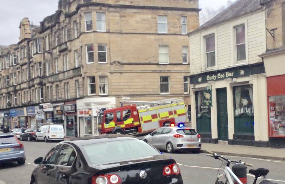 Fire crews deal with minor fire in Stirling City Centre