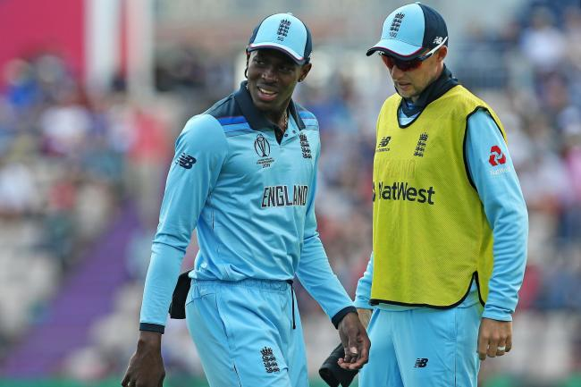 England's Jofra Archer suffered an injury in the warm-up game with Australia