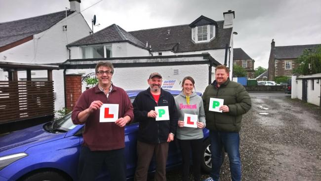 Martin Earl, Mark Griffiths, Brogan Hardacre (currently taking driving lessons) and Grant Wallace at Callander Youth Project